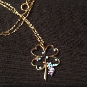 Jewelry - 14k solid gold Shamrock Pendant with Gold necklace